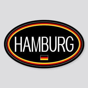 Germany: Hamburg Oval (Black) Sticker (Oval)