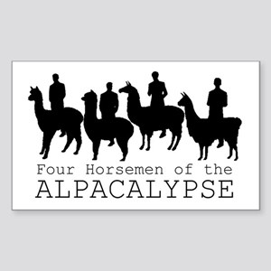 Four Horsemen of Alpacalypse Sticker