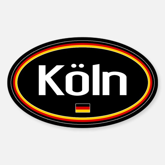 Germany: Köln Oval (Black) Sticker (Oval)