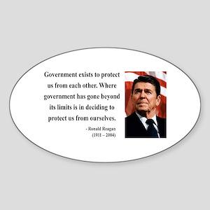Ronald Reagan 20 Oval Sticker