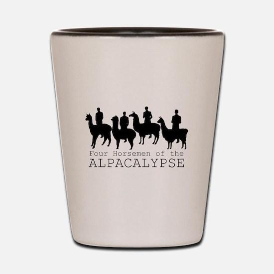 Four Horsemen of Alpacalypse Shot Glass