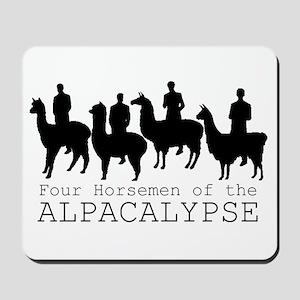 Four Horsemen of Alpacalypse Mousepad