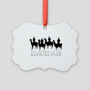 Four Horsemen of Alpacalypse Picture Ornament