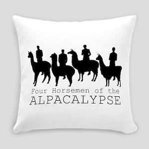 Four Horsemen of Alpacalypse Everyday Pillow