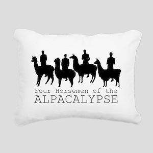 Four Horsemen of Alpacal Rectangular Canvas Pillow
