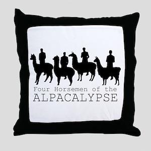 Four Horsemen of Alpacalypse Throw Pillow