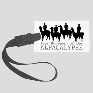 Four Horsemen of Alpacalypse Large Luggage Tag