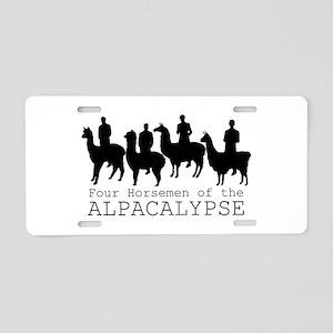 Four Horsemen of Alpacalyps Aluminum License Plate