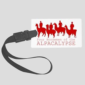Four Horsemen of Alpacalypse Large Luggage Tag