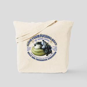 Boating, Freshwater Quagga Mussel Tote Bag