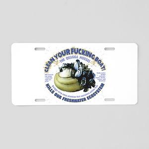 Boating, Freshwater Quagga Aluminum License Plate