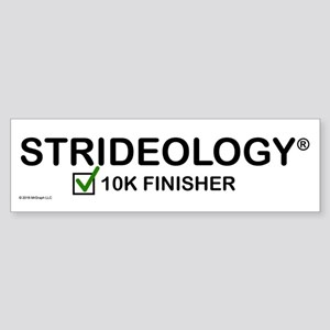 Bumper Sticker: Strideology 10k