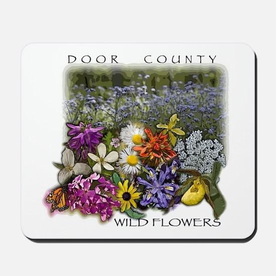 Door County Wildflowers Mousepad