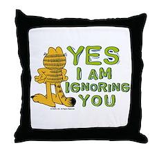 Ignoring you Garfield Throw Pillow