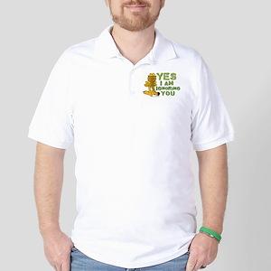 Ignoring you Garfield Golf Shirt