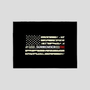#ISIS_SurrenderOrDie 5'x7'Area Rug