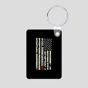 #ISIS_SurrenderOrDie Aluminum Photo Keychain