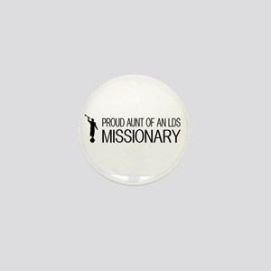 LDS: Proud Missionary Aunt (White) Mini Button