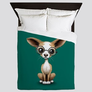 Cute Curious Chihuahua Wearing Eye Glasses Queen D