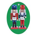 The Happy Masons Nutcrackers Oval Ornament