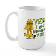 Ignoring you Garfield Large Mug
