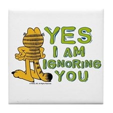 Ignoring you Garfield Tile Coaster