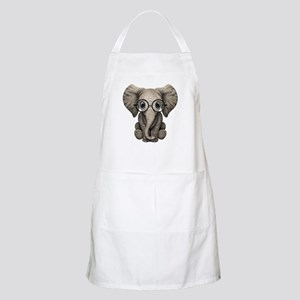 Cute Baby Elephant Calf with Reading Glasses Apron
