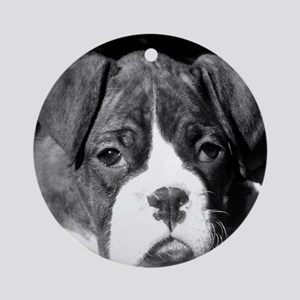 Boxer pups Round Ornament