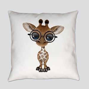 Cute Curious Baby Giraffe Wearing Glasses Everyday