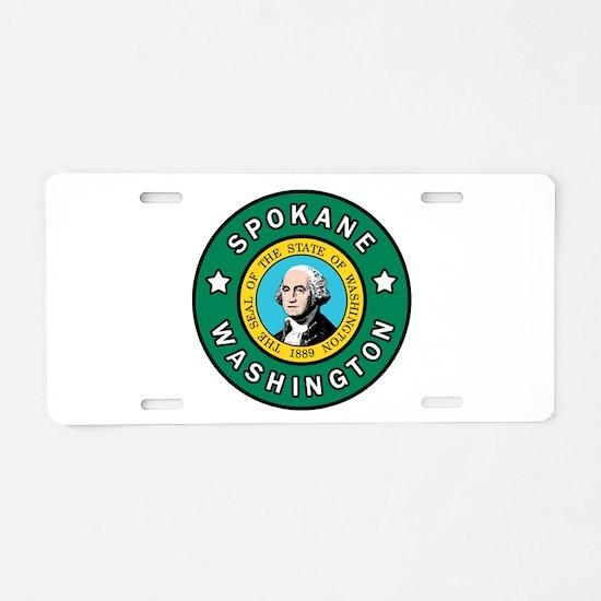 Spokane Washington Aluminum License Plate