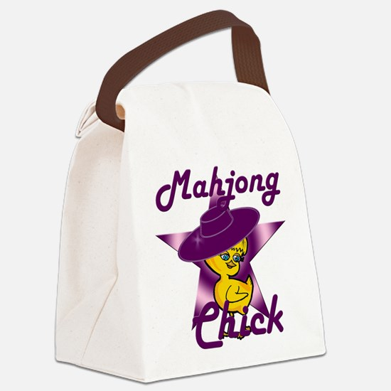 Mahjong Chick #9 Canvas Lunch Bag