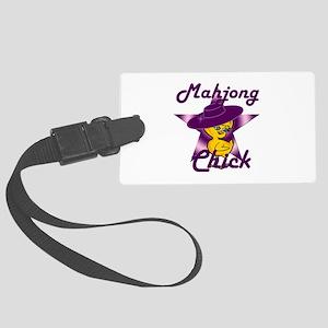 Mahjong Chick #9 Large Luggage Tag