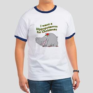 Christmas Hippo Ringer T