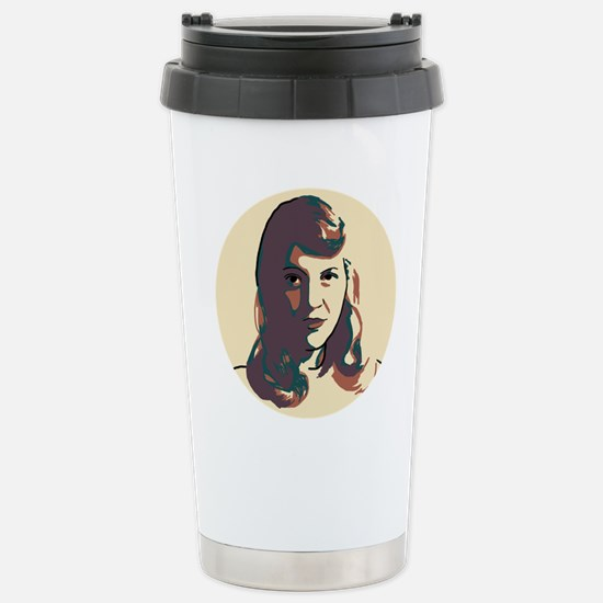 Sylvia Plath Stainless Steel Travel Mug