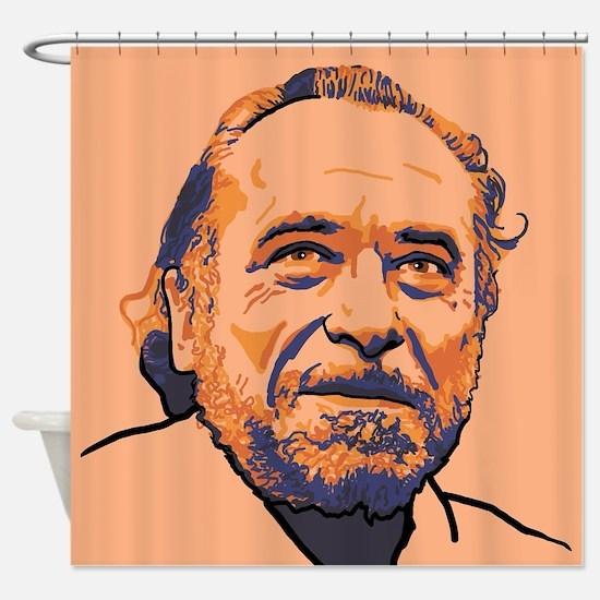 Charles Bukowski Shower Curtain