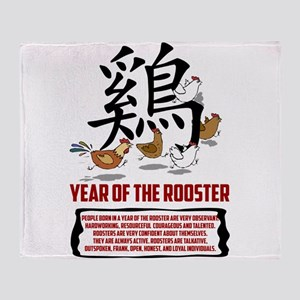 rooster8LightWith Traits Throw Blanket