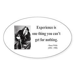 Oscar Wilde 11 Oval Decal
