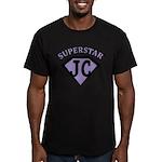 JC Superstar in purple T-Shirt