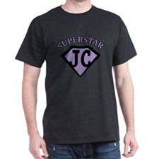 JC Superstar in purple T-Shirt