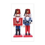 The Happy Shriners Nutcrackers Sticker (Rectangula