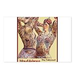 Maud Arizona Vintage Tattooed Lady Print Postcards