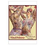 Maud Arizona Vintage Tattooed Lady Print Poster