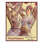 Maud Arizona Vintage Tattooed Lady Print Small Pos