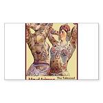 Maud Arizona Vintage Tattooed Lady Print Sticker
