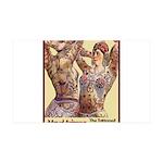 Maud Arizona Vintage Tattooed Lady Print Decal Wal