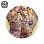 "Maud Arizona Vintage Tattooed Lady Print 3.5"" Butt"