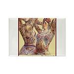 Maud Arizona Vintage Tattooed Lady Print Magnets