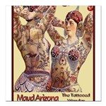 Maud Arizona Vintage Tattooed Lady Print Square Ca