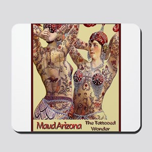 Maud Arizona Vintage Tattooed Lady Print Mousepad