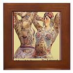 Maud Arizona Vintage Tattooed Lady Print Framed Ti